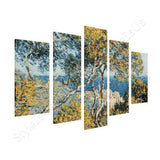 Claude Monet Bordighera 5 Panels | Canvas, Posters, Prints & Stickers - StyleIsUS.com