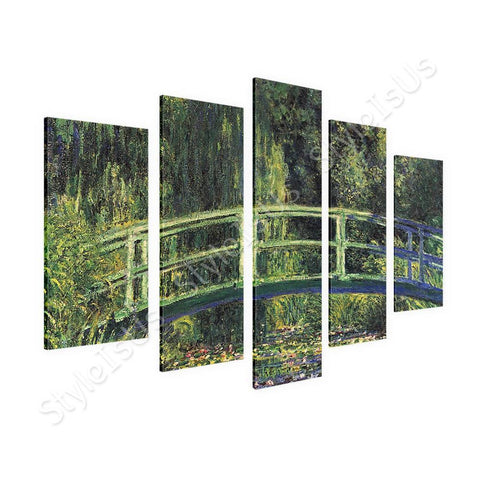 Claude Monet Water lily pond 5 Panels | Canvas, Posters, Prints & Stickers - StyleIsUS.com