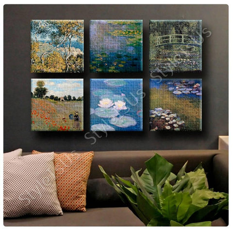 Claude Monet Water lily Bordighera Wild Poppies Set Of 6 | Canvas, Posters, Prints & Stickers - StyleIsUS.com