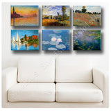 Claude Monet Giorgio Landscape Water lilies Set Of 6 | Canvas, Posters, Prints & Stickers - StyleIsUS.com