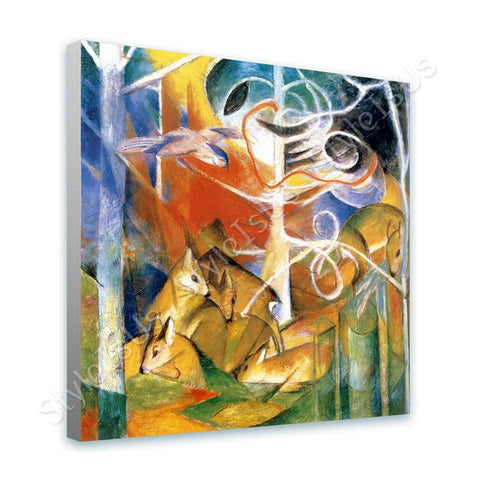 Franz Marc Deer in the Forest | Canvas, Posters, Prints & Stickers - StyleIsUS.com
