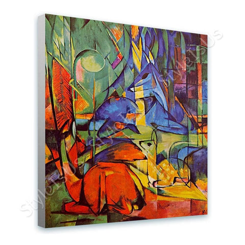 Franz Marc Deer in the Forest 2 | Canvas, Posters, Prints & Stickers - StyleIsUS.com