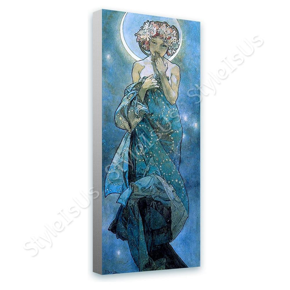 Alphonse Mucha Moon | Canvas, Posters, Prints & Stickers - StyleIsUS.com