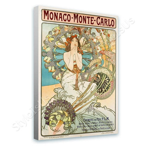 Alphonse Mucha Monaco Monte Carlo | Canvas, Posters, Prints & Stickers - StyleIsUS.com