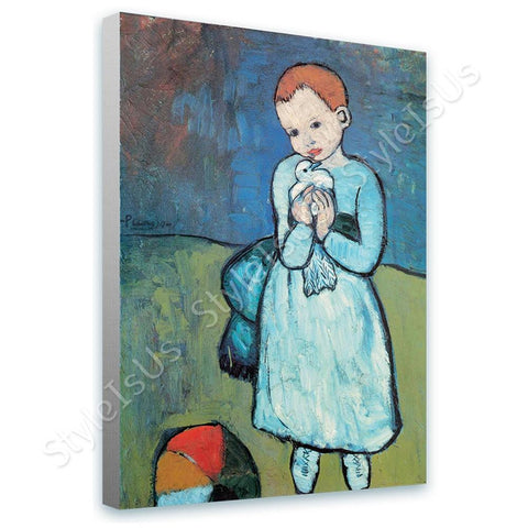 Pablo Picasso Child with Dove | Canvas, Posters, Prints & Stickers - StyleIsUS.com