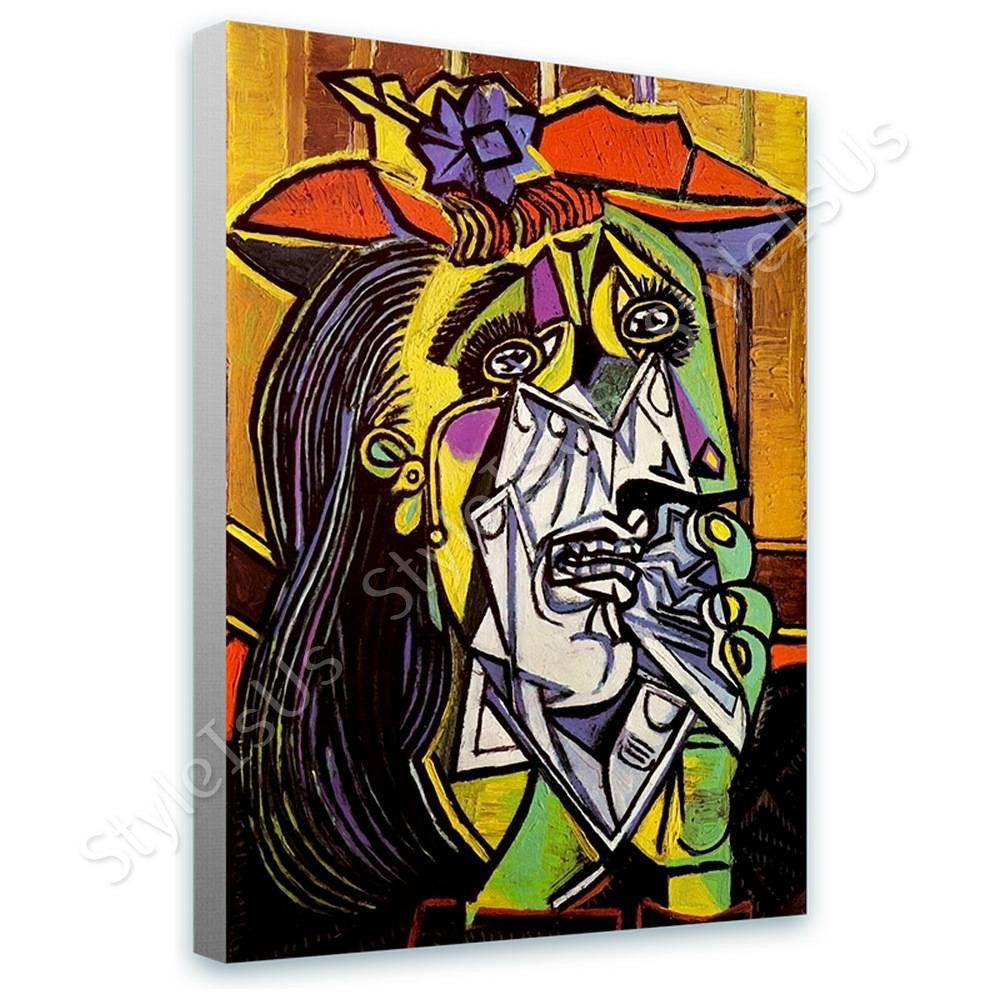 Pablo Picasso Weeping Woman | Canvas, Posters, Prints & Stickers - StyleIsUS.com