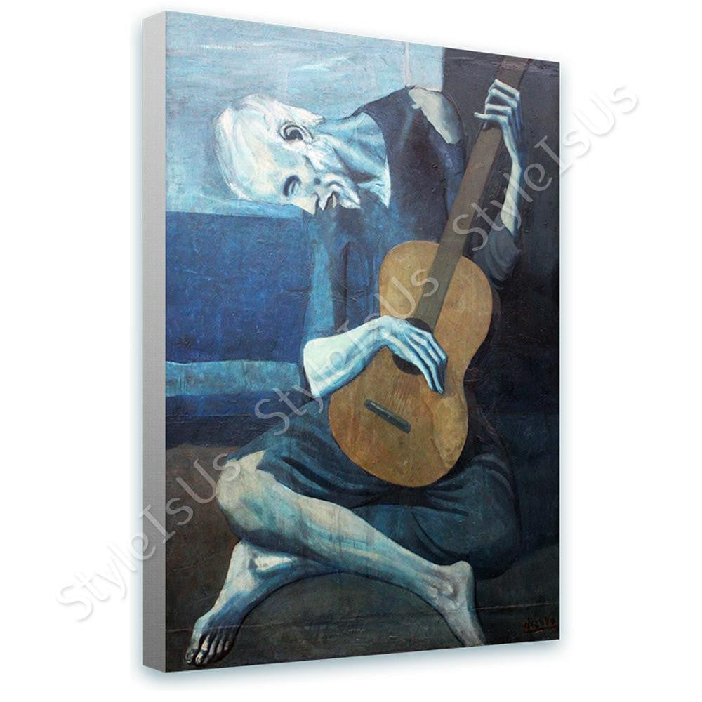 Pablo Picasso The Old Guitarist | Canvas, Posters, Prints & Stickers - StyleIsUS.com