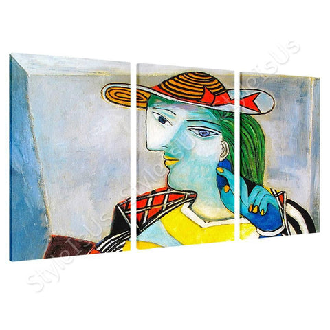 Pablo Picasso Marie Therese Walter 3 Panels | Canvas, Posters, Prints & Stickers - StyleIsUS.com