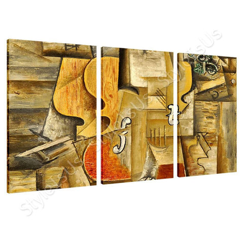 Pablo Picasso Violin And Grapes 3 Panels | Canvas, Posters, Prints & Stickers - StyleIsUS.com