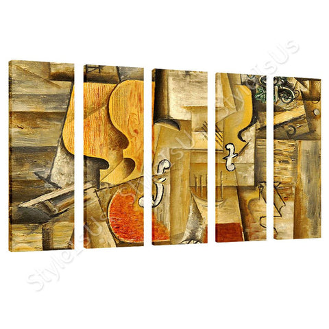 Pablo Picasso Violin And Grapes 5 Panels | Canvas, Posters, Prints & Stickers - StyleIsUS.com