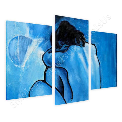 Pablo Picasso Blue Nude 3 Panels | Canvas, Posters, Prints & Stickers - StyleIsUS.com