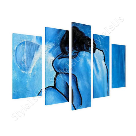 Pablo Picasso Blue Nude 5 Panels | Canvas, Posters, Prints & Stickers - StyleIsUS.com