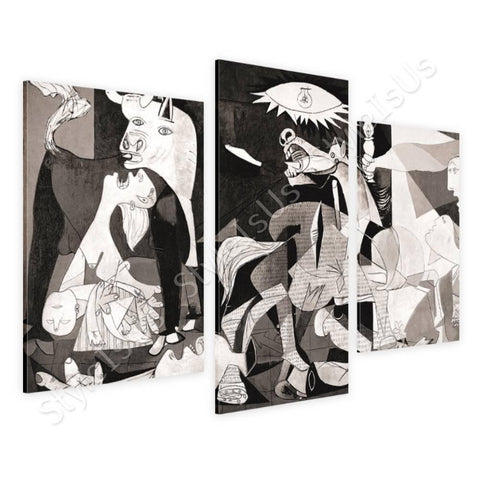 Pablo Picasso Guernica 3 Panels | Canvas, Posters, Prints & Stickers - StyleIsUS.com