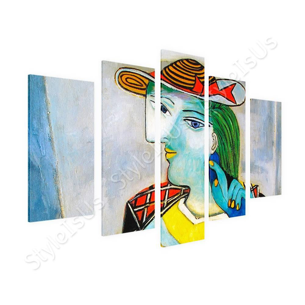 Pablo Picasso Marie Therese Walter 5 Panels | Canvas, Posters, Prints & Stickers - StyleIsUS.com