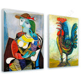 Pablo Picasso Marie Therese rooster Set Of 2 | Canvas, Posters, Prints & Stickers - StyleIsUS.com