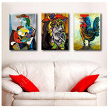 Pablo Picasso Marie Therese rooster weeping Set Of 3 | Canvas, Posters, Prints & Stickers - StyleIsUS.com