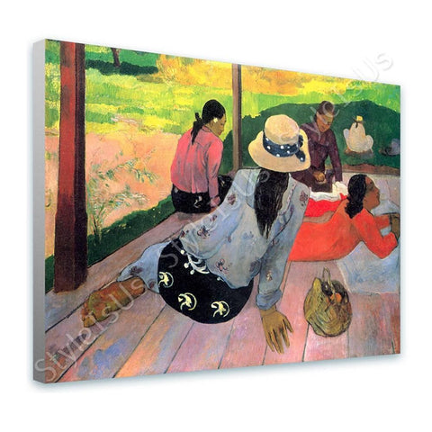 Paul Gauguin The midday nap Siesta | Canvas, Posters, Prints & Stickers - StyleIsUS.com