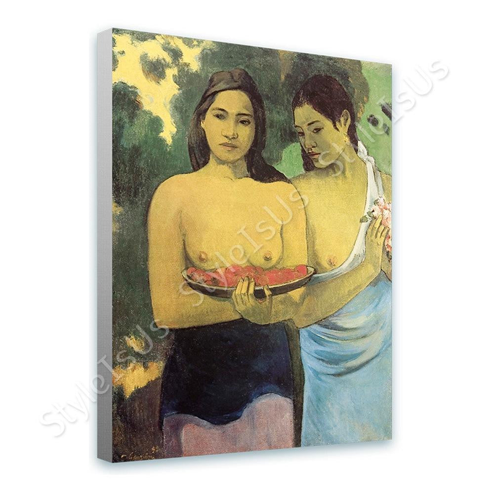 Paul Gauguin Two Tahitian Women | Canvas, Posters, Prints & Stickers - StyleIsUS.com