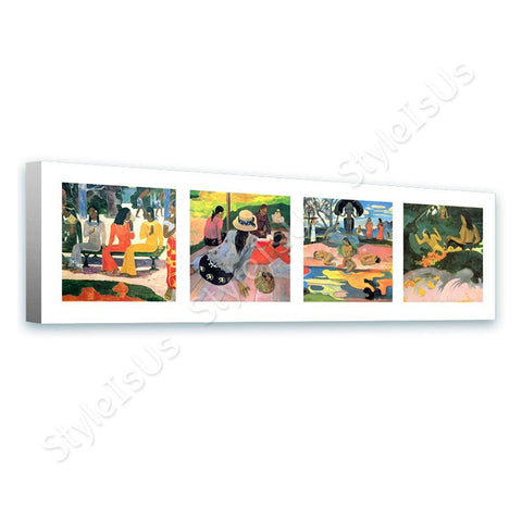 Paul Gauguin Collage 4 market siesta nap gods | Canvas, Posters, Prints & Stickers - StyleIsUS.com