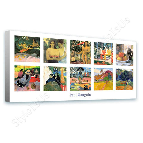 Paul Gauguin Collage 10 sea siesta market still | Canvas, Posters, Prints & Stickers - StyleIsUS.com