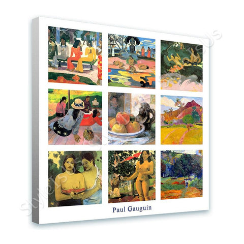 Paul Gauguin Collage 9 market still life siesta | Canvas, Posters, Prints & Stickers - StyleIsUS.com