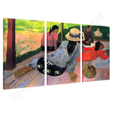 Paul Gauguin The midday nap Siesta 3 Panels | Canvas, Posters, Prints & Stickers - StyleIsUS.com
