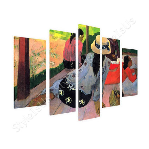 Paul Gauguin The midday nap Siesta 5 Panels | Canvas, Posters, Prints & Stickers - StyleIsUS.com