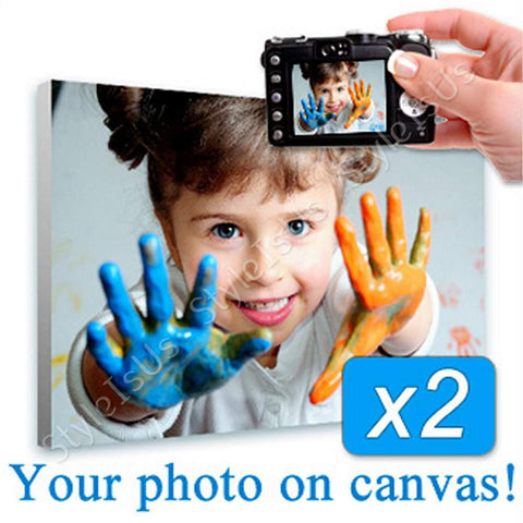 Personal Your Photo on canvas Set Of 2 | Canvas, Posters, Prints & Stickers - StyleIsUS.com