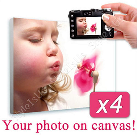 Personal Your Photo on canvas Set Of 4 | Canvas, Posters, Prints & Stickers - StyleIsUS.com