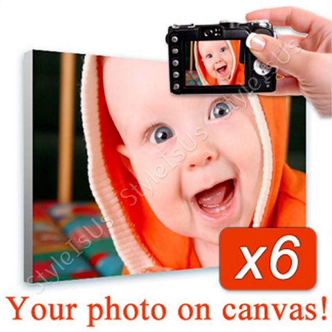 Personal Your Photo on canvas Set Of 6 | Canvas, Posters, Prints & Stickers - StyleIsUS.com