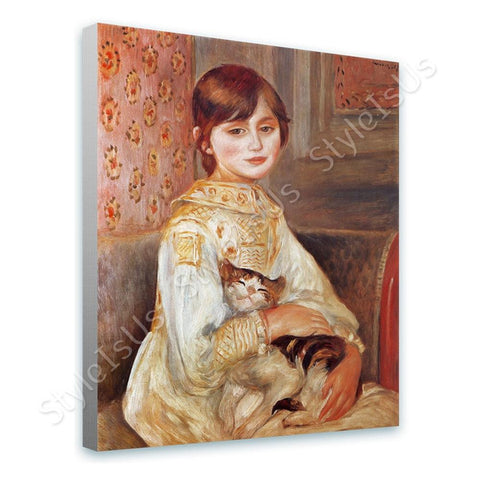 Auguste Renoir Julie Manet with Cat | Canvas, Posters, Prints & Stickers - StyleIsUS.com