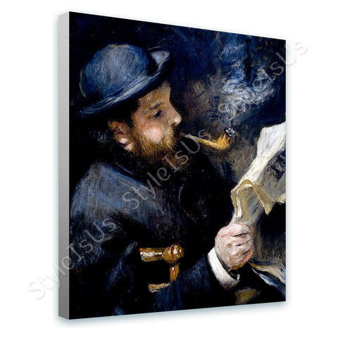 Auguste Renoir Claude Monet Reading | Canvas, Posters, Prints & Stickers - StyleIsUS.com