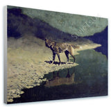Frederic Remington Moonlight Wolf | Canvas, Posters, Prints & Stickers - StyleIsUS.com