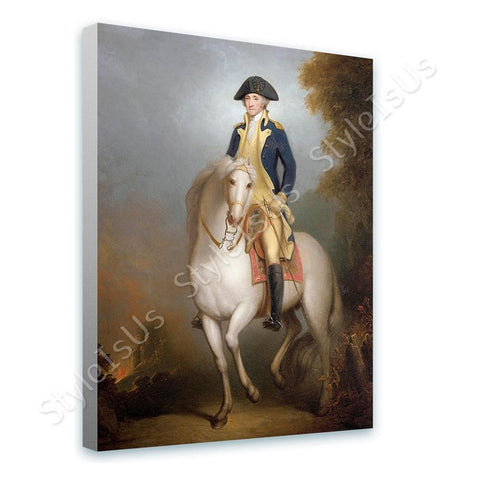 Rembrandt George Washington on Horse | Canvas, Posters, Prints & Stickers - StyleIsUS.com