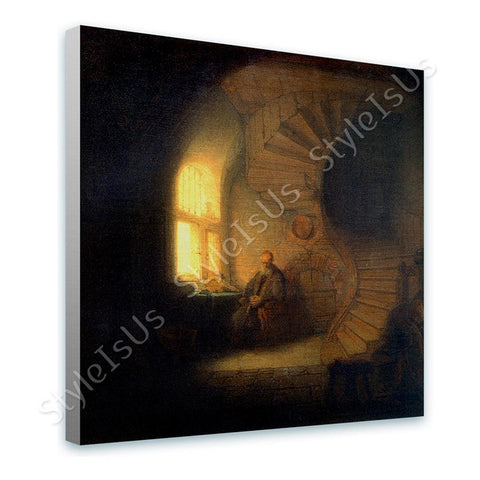 Rembrandt Philosopher in Meditation | Canvas, Posters, Prints & Stickers - StyleIsUS.com