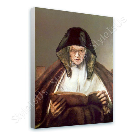 Rembrandt Old Woman Reading | Canvas, Posters, Prints & Stickers - StyleIsUS.com