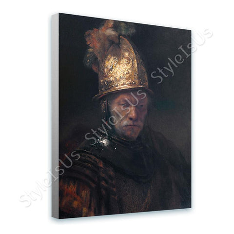 Rembrandt Man Golden Helmet | Canvas, Posters, Prints & Stickers - StyleIsUS.com