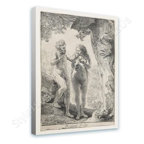 Rembrandt Adam and Eve | Canvas, Posters, Prints & Stickers - StyleIsUS.com