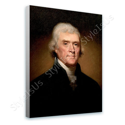 Rembrandt Thomas Jefferson | Canvas, Posters, Prints & Stickers - StyleIsUS.com