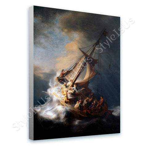 Rembrandt Christ in the storm sea of galilee | Canvas, Posters, Prints & Stickers - StyleIsUS.com