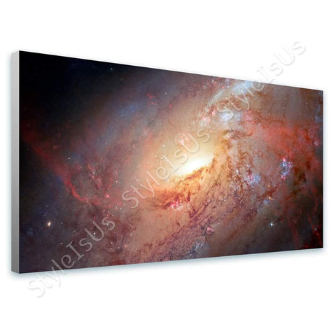 Space Galaxy Astronomy stars Hubble M 106 nasa | Canvas, Posters, Prints & Stickers - StyleIsUS.com