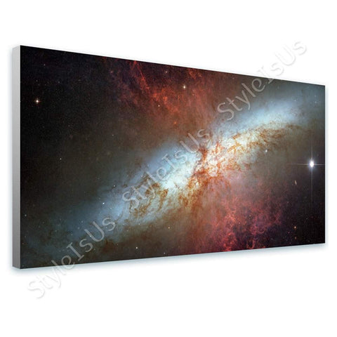 Space Galaxy NASA starburst galaxy Messier 82 M82 | Canvas, Posters, Prints & Stickers - StyleIsUS.com