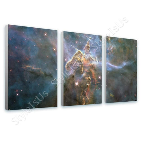 Space Galaxy Mystic Mountain hubble nasa star 3 Panels | Canvas, Posters, Prints & Stickers - StyleIsUS.com