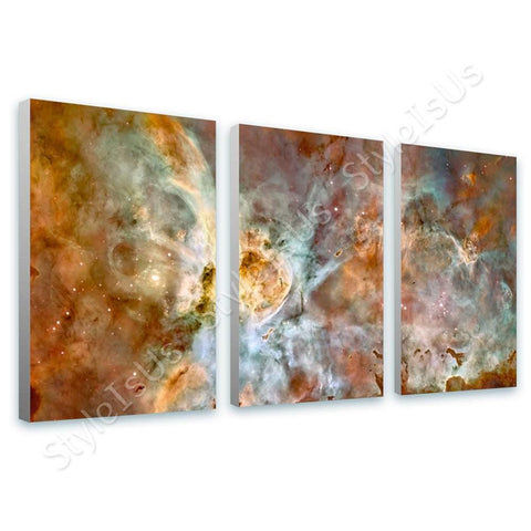 Space Galaxy Hubble nasa astronomy 3 Panels | Canvas, Posters, Prints & Stickers - StyleIsUS.com