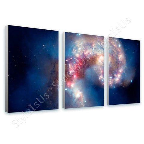 Space Galaxy Astro hubble telescope nasa 3 Panels | Canvas, Posters, Prints & Stickers - StyleIsUS.com