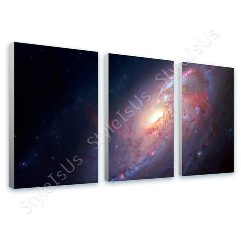 Space Galaxy Stars astronomy nasa hubble 3 Panels | Canvas, Posters, Prints & Stickers - StyleIsUS.com