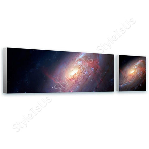 Space Galaxy Star astronomy nasa hubble 2 Panels | Canvas, Posters, Prints & Stickers - StyleIsUS.com