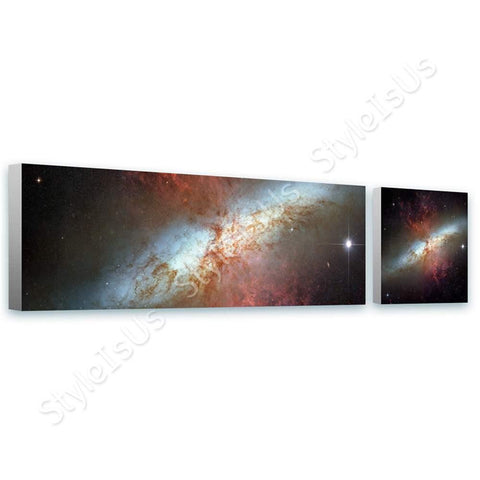 Space Galaxy Starburst hubble Messier 82 M82 2 Panels | Canvas, Posters, Prints & Stickers - StyleIsUS.com
