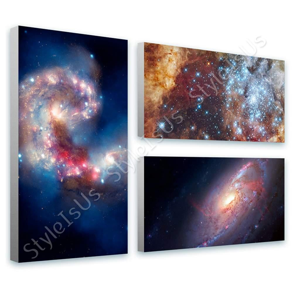 Space Galaxy Star nasa astronomic hubble Set Of 3 | Canvas, Posters, Prints & Stickers - StyleIsUS.com