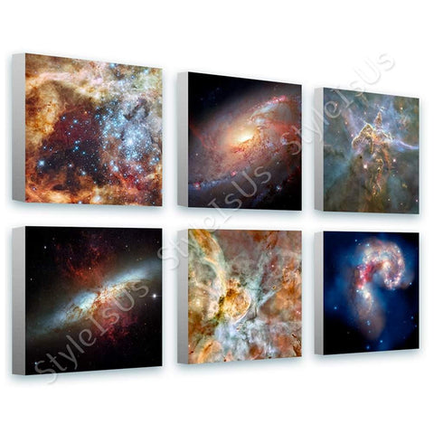 Space Galaxy Star nasa astronomy hubble Set Of 6 | Canvas, Posters, Prints & Stickers - StyleIsUS.com